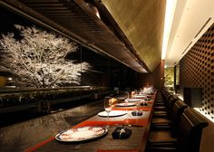 "The Japanese Restaurant ""hanagoyomi"", Kobe by Nikken Space Design and Takeshi Nakano."