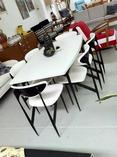 Grant Featherston Scape dining suite for Aristoc Industries. Designed in 1960, remained popular through to the 1970s. This one, restored by Rewind Mid-Century in QLD is one of the finest I've seen. Missed out on one of these a few years back - never again. Must own one day!