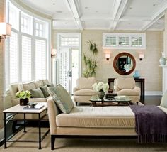 If you have a chair or two at one end of a couch, balance them with a chaise on the other side. It can be a nice place to take a nap while doubling as seating for multiple people when entertaining.