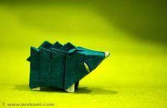 Gen Hagiwara Origami Boar by Himanshu (Mumbai, India), via Flickr