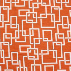 Shopping for Knits: Haven't ever bought here, but people really seem to like this shop (Girl Charlee) Mod Squares Orange Cotton Jersey Knit Fabric at Girl Charlee