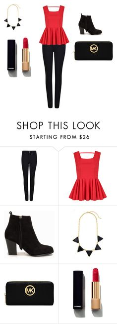 """""""My mom's brith day outfit two."""" by kirahj28 on Polyvore featuring Giorgio Armani, Nly Shoes, Michael Kors and Chanel"""