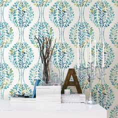 A - Street Prints Mirabelle Versailles Floral Damask Wallpaper | from hayneedle.com