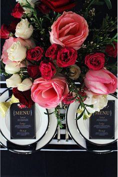 Modern Black and Floral Wedding ideas