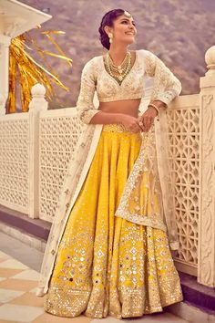 Shop Abhinav Mishra Embroidered Lehenga Set , Exclusive Indian Designer Latest Collections Available at Aza Fashions Indian Bridal Outfits, Indian Bridal Fashion, Indian Fashion Dresses, Dress Indian Style, Indian Gowns, Indian Attire, Indian Wedding Dresses, Indian Look, Lehnga Dress