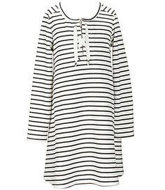 Copper Key Big Girls 716 Striped LaceUp ALine Dress #Dillards