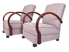 Pair of French Art Deco Lounge Chairs c.1940