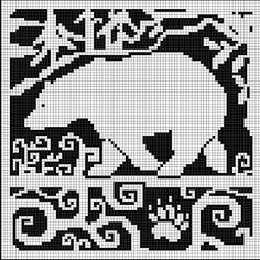 WitchWolfWeb Creations: Spirit Bear Pattern.