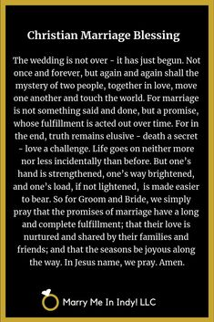 Christian Marriage Blessings, Scripts and PDF's Wedding Ceremony Readings, Wedding Ceremony Script, Vow Renewal Ceremony, Couples Prayer, Universal Life Church, Wedding Officiant Script, Christian Marriage, Christian Songs, Wedding Blessing
