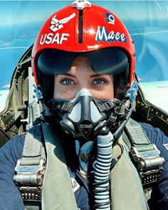Major Michelle Curran is the only female fighter jet pilot among those participating in today's air show, which features the Thunderbirds and the Blue Angels. They are flying today to show solidarity with first responders. Jet Fighter Pilot, Fighter Jets, New York City, Gas Mask Girl, F 16 Falcon, Female Pilot, Military Women, Military Female, Female Fighter