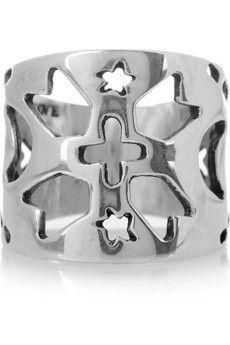 Navajo inspired cutout silver Ring PAMELA LOVE