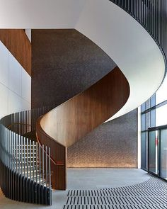 Stair Handrail, Staircase Railings, Stairways, Staircase Ideas, Staircase Remodel, Spiral Staircases, Architecture Details, Interior Architecture, Staircase Architecture