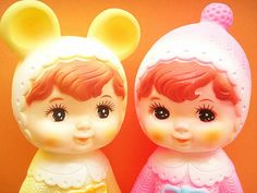 Kawaii Vintage Toy Rubber Doll Girls Cute Pink Yellow Baby Collectibles Retro Japan 1970's by Kawaii Japan, via Flickr