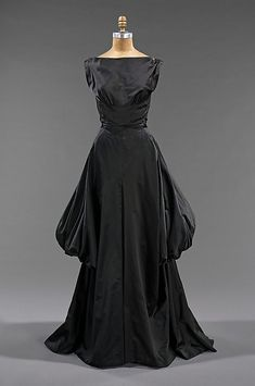 1948, America - Silk evening dress by Charles James