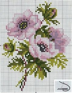 Cross Stitch Love, Cross Stitch Flowers, Cross Stitch Charts, Cross Stitch Designs, Cross Stitch Patterns, Cross Stitching, Cross Stitch Embroidery, Embroidery Patterns, Flower Chart