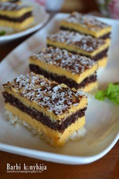 Hungarian Cake, Hungarian Recipes, Cooking Recipes, Healthy Recipes, Cake Cookies, Fudge, Deserts, Dessert Recipes, Food And Drink