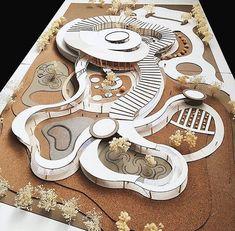 'Children's Library and Child Development Center' Designed by Arada Hemrudee Adviso Concept Models Architecture, Library Architecture, Wooden Architecture, Cultural Architecture, Futuristic Architecture, Architecture Plan, Residential Architecture, Landscape Architecture Model, Kids Library