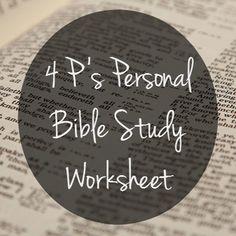4 P's Personal Bible Study Worksheet Free Printable {MissionalWomen.com}