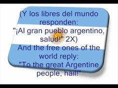 Argentine National Anthem with english lyrics - YouTube