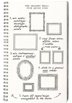 free printable gallery wall template for planning layout