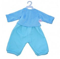 Blue Velvet Trousers and Stripey Top #dolls #babies