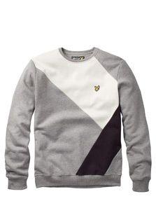 Lyle and Scott Intarsia Y Monochrome Sweatshirtsmall image