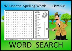 Sixteen Word Searches for Lists of the NZ Essential Spelling Words. Included: ♦ 16 word searches in lower case letters. ♦ 16 word searches in capital letters. ♦ Blank template - for your students to create their Activity Sheets, Activity Centers, Literacy Centers, Spelling Words, Sight Words, Word Study, Word Work, School Resources, Lower Case Letters