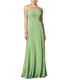 <h5>Description</h5> <ul> <li><span>After Six Style 6639 </span></li> <li>Fulllength bridesmaid dress</li> <li>Strapless neckline</li> <li>Draped bodice</li> <li>Full Aline skirt</li> <li>Naturalwaistline</li> <li>Lux chiffon</li> </ul>