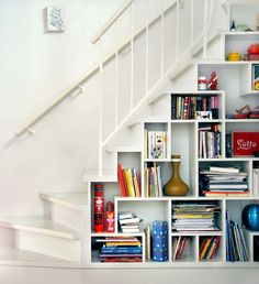 Bookshelves Under Stairs innovative under stairs study | stairs | pinterest | basements