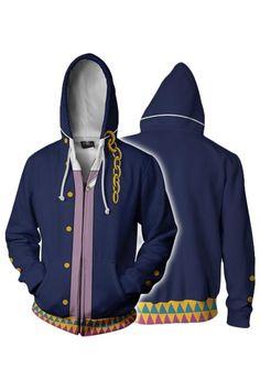 8949ee5721 Teen Hoodie JoJo's Bizarre Adventure Kujo Jotaro 3D Zip Up Sweatshirt – New  Cosplaysky Jojo's Bizarre
