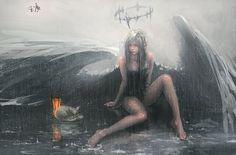 Angel. Wang Ling. wlop.deviantart.com on @DeviantArt