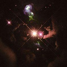 Objet Herbig-Haro 32 Un exemple d'objet Herbig-Haro objet observé par le télescope spatial : HH 32. Crédit : NASA/STScI