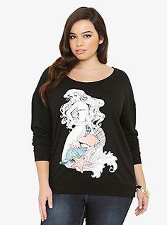 Disney Ariel Seashell Sweatshirt, DEEP BLACK