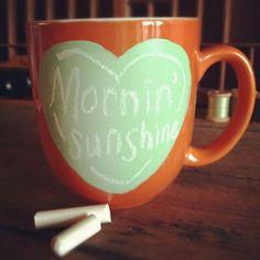 cute chalkboard DIY mug from @Rhianna Reeder Reeder Reeder Lederman!