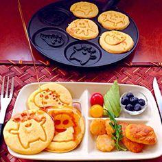 また作って〜と息子に言われつつ保留だったので、久々パンケーキ ちょうどトーストメニューに煮詰まって思いつかなかったからLucky - 50件のもぐもぐ - Monsters pancakeモンスターズパンケーキ by Ami