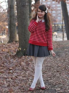 Style Gallery | ModCloth's Fashion Community #red #stripe