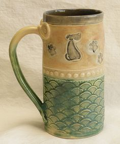 Great little mutt on this coffee mug 20oz stoneware by desertNOVA on Etsy, $22.00