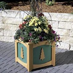 Patio-perfect Planter Box Woodworking Plan - Product Code Dp-00265