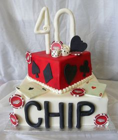 40th Poker Cake by The Sweet Divine, via Flickr