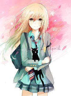 #schooldays - kaori miyazono   anime - shigatsu wa kimi no uso