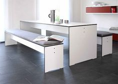 Clean Table and Benches — Benches -- Better Living Through Design
