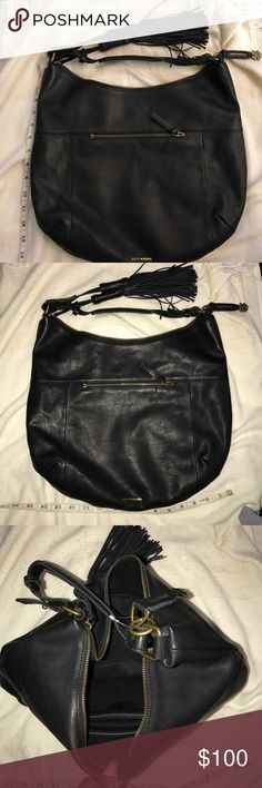 Lucky brand bag This is a beautiful black leather bag by lucky brand very spacious short strap inside zipper pocket  and outside pocketbrand-new never used Lucky Brand Bags Satchels