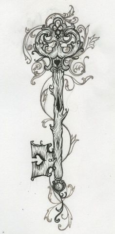 key tattoo; pinned for the artwork style more than the subject matter
