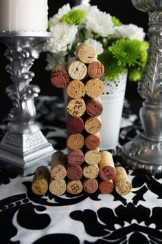Wine Cork Table Numbers Wedding Unique table by IdoCustomsEvents, $10.00