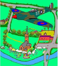 We 'ad a fête in the church meadow to raise money fer a Spitfire. Yew c'n see moi school, jus' near rhe church, and The Old Vicarage on the left... http://youtu.be/Ct7EgrgQ2ec