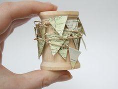 Miniature Map Bunting