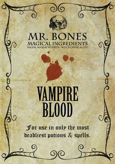 Free apothecary label printables from Johnny Love #Halloween