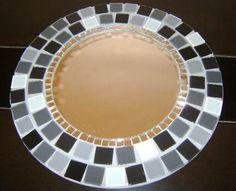 espelho decorado com mosaico