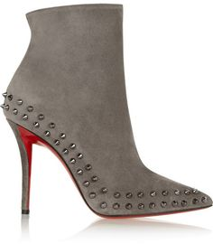 Christian Louboutin Willeta 100 spiked suede ankle boots on shopstyle.com