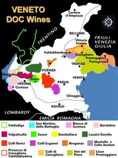 Veneto DOC Wine Map